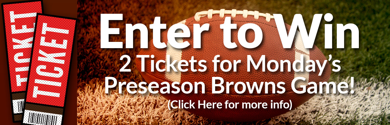 Enter to win 2 tickets for Monday's preseason Browns game!