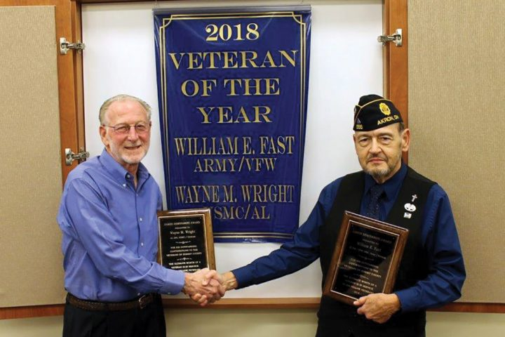 Veteran of the Year co-winners Wayne Wright (left) and William Fast (right).