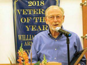 Wayne Wright accepts his award.