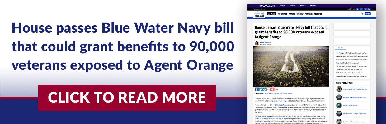 House passes Blue Water Navy bill that could grant benefits to 90,000 veterans exposed to Agent Orange